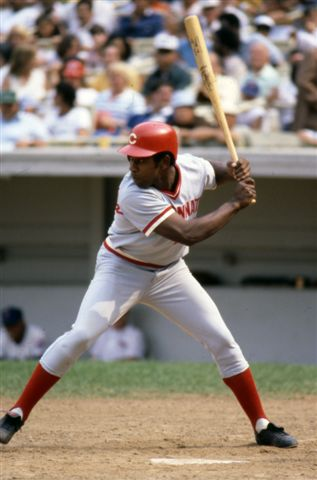 Game action batting of Cincinnati Reds Dan Driessen, 1978