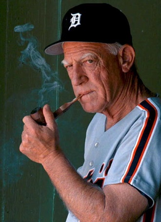 Detroit Tigers Manager Sparky Anderson watches his