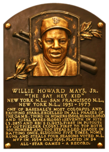 Willie Mays Hall of Fame